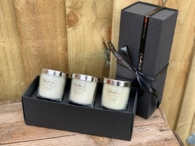 Cheshire home fragrance triple candle gift set